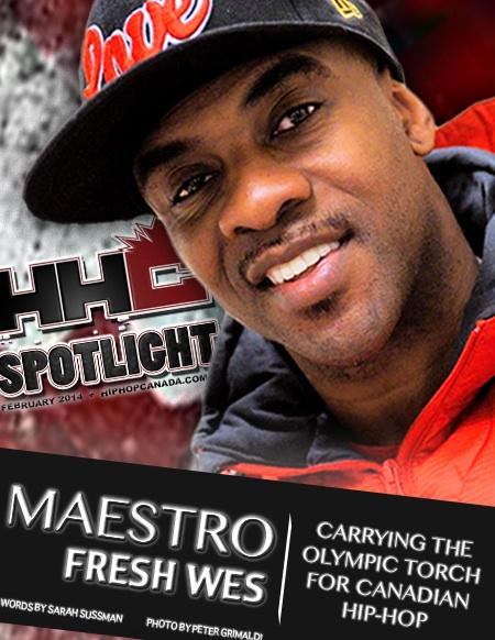 Artwork for HipHopCanada's Spotlight Feature on Maestro Fresh Wes (Feb. 2014)