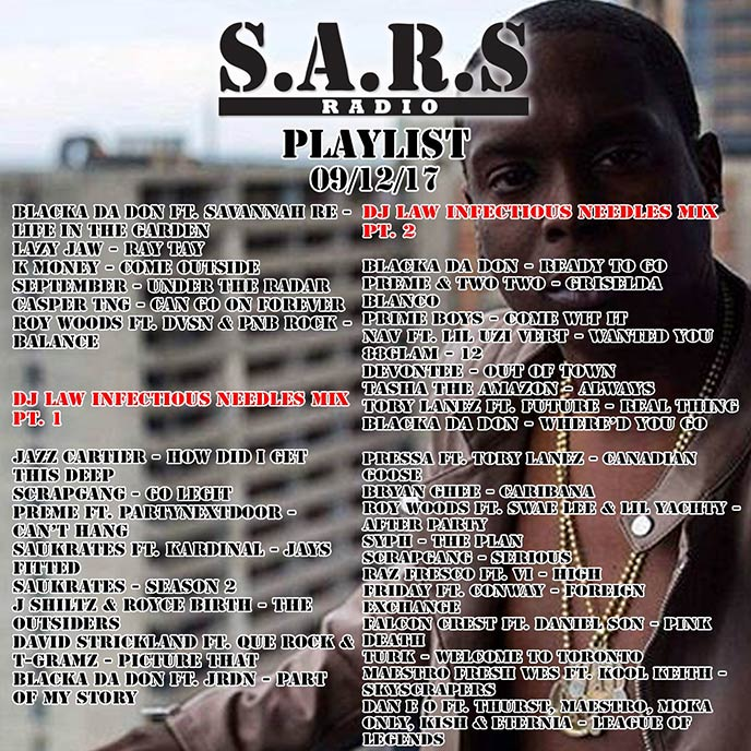 SARS Radio Ep. 109 features new Blacka Da Don, SG, Roy Woods & more