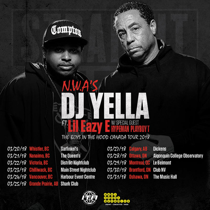 DJ Yella to bring Boys In The Hood Tour to Canada with Lil Eazy-E