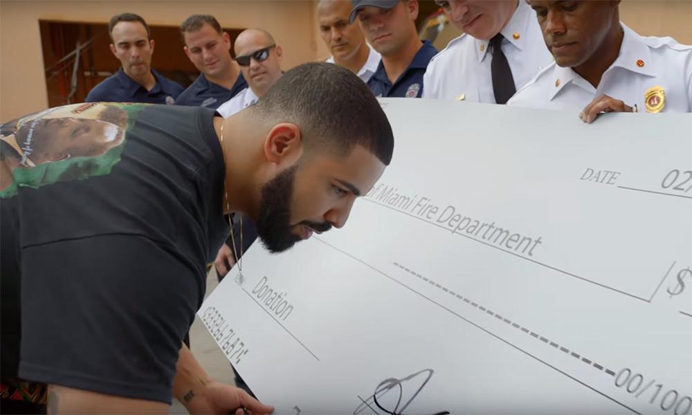 Drake donates more than $1M CDN in