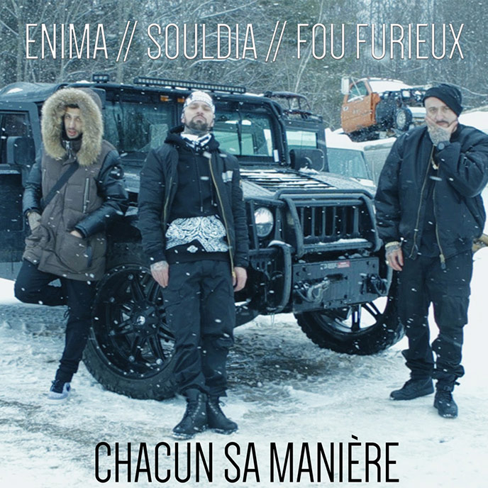 Enima, Souldia & Fou Furieux team up for Chacun sa maniere