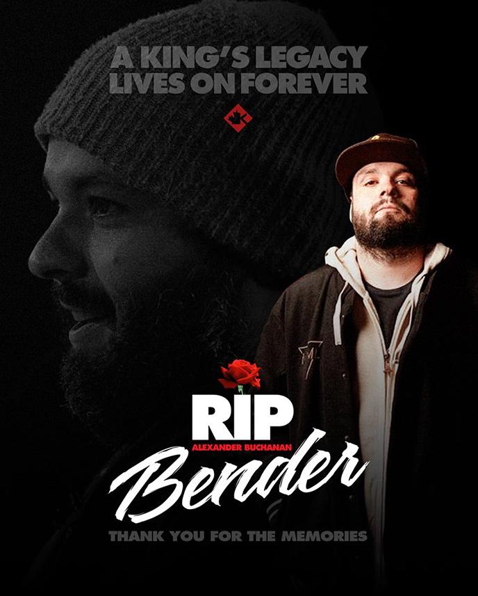 Former KOTD champ Bender of Flight Distance has passed away