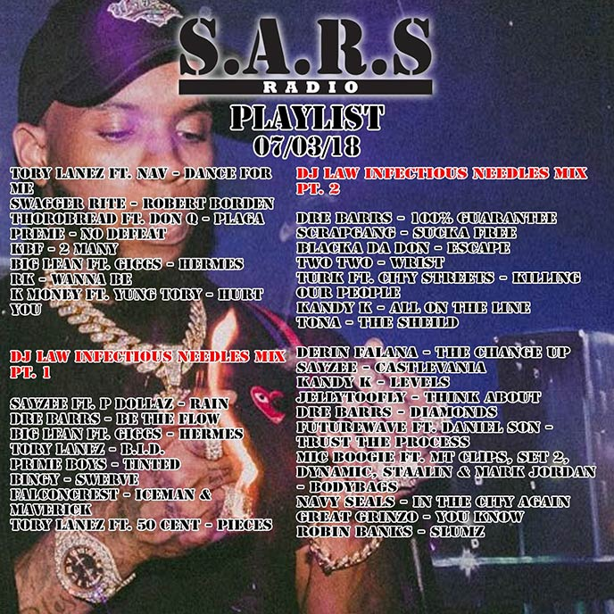 Listen to SARS Radio Ep. 115 & 116 (Hosted by TRA & DJ Law)