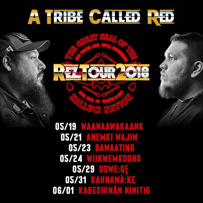 A Tribe Called Red announces dates for their Rez Tour 2018