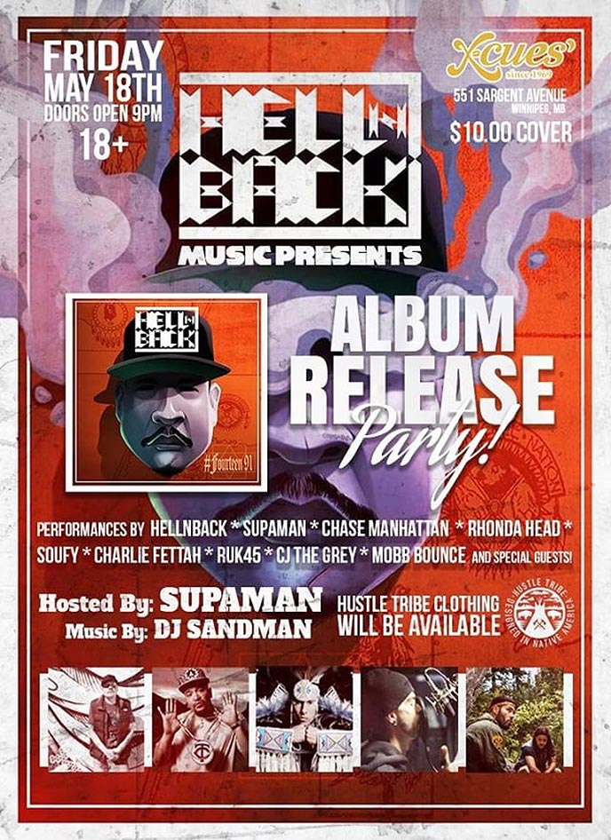 Hellnback celebrates the release of #Fourteen91 in Winnipeg on May 18