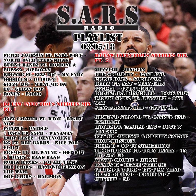 Drake stays at No. 1 on SARS Radio Episode 123