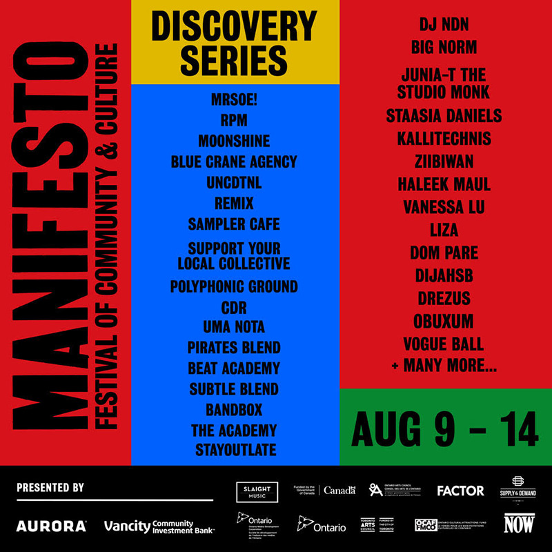 Manifesto Festival announces line-up for 2018 Discovery Series