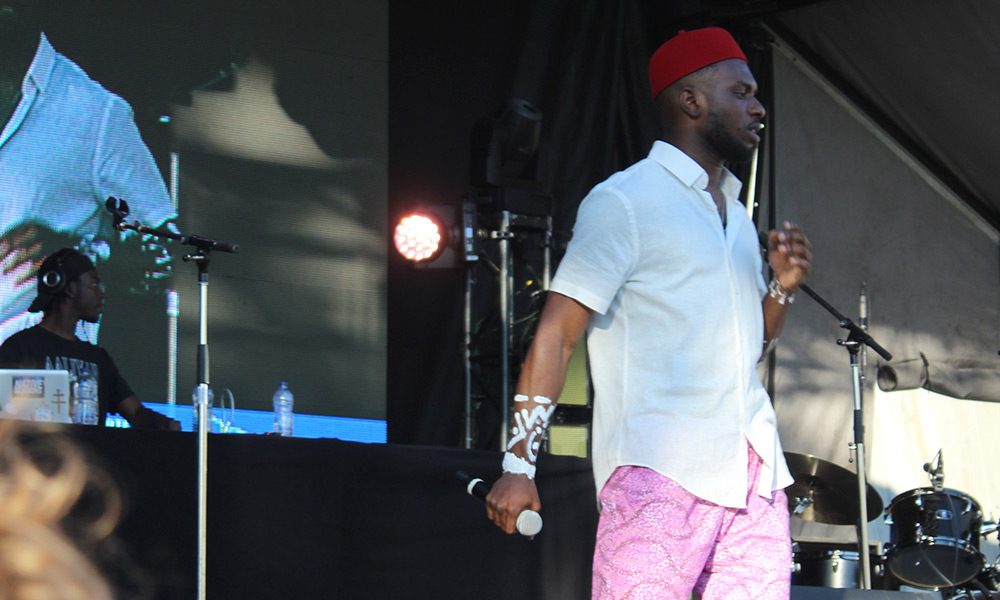Morris Ogbowu takes over the Black Sheep Stage at Bluesfest