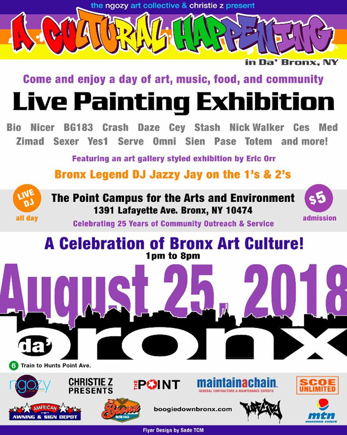 A Cultural Happening in Da Bronx is going down this weekend