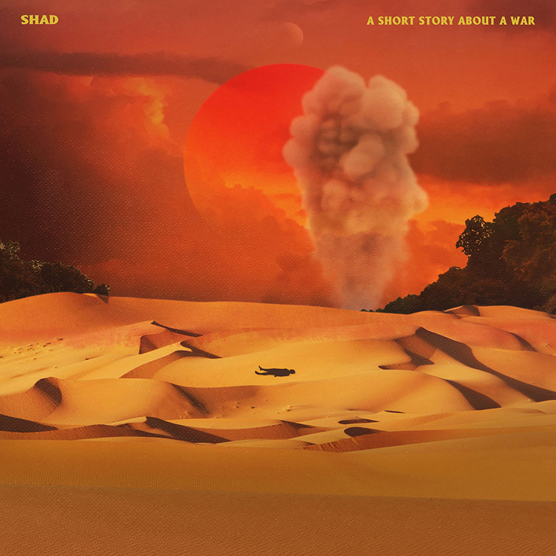 Artwork for Shad album A Short Story About a War. Artwork by Justin Broadbent.