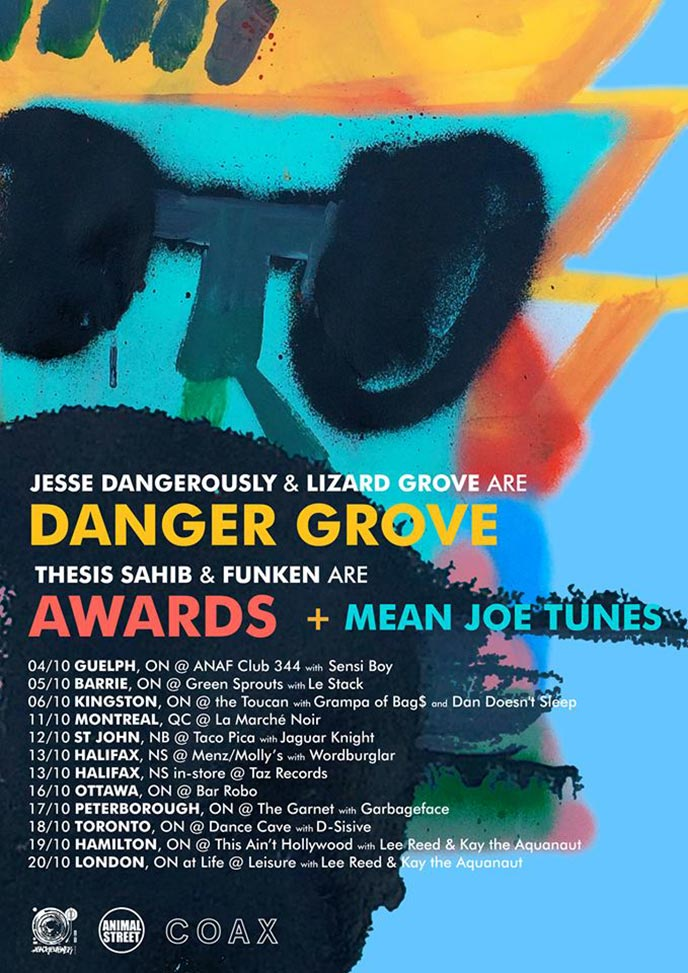 Danger Grove and Awards announce October tour to promote albums