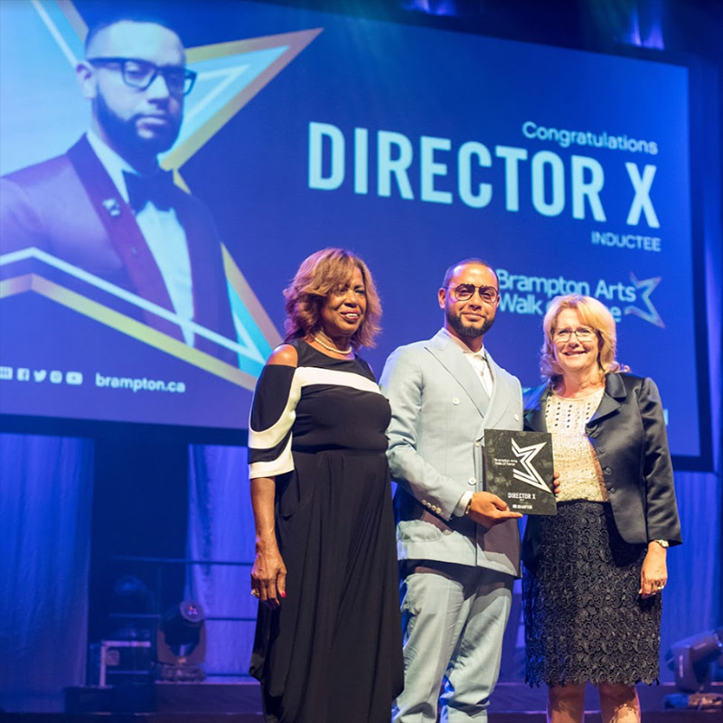 Director X inducted to Brampton Arts Walk of Fame