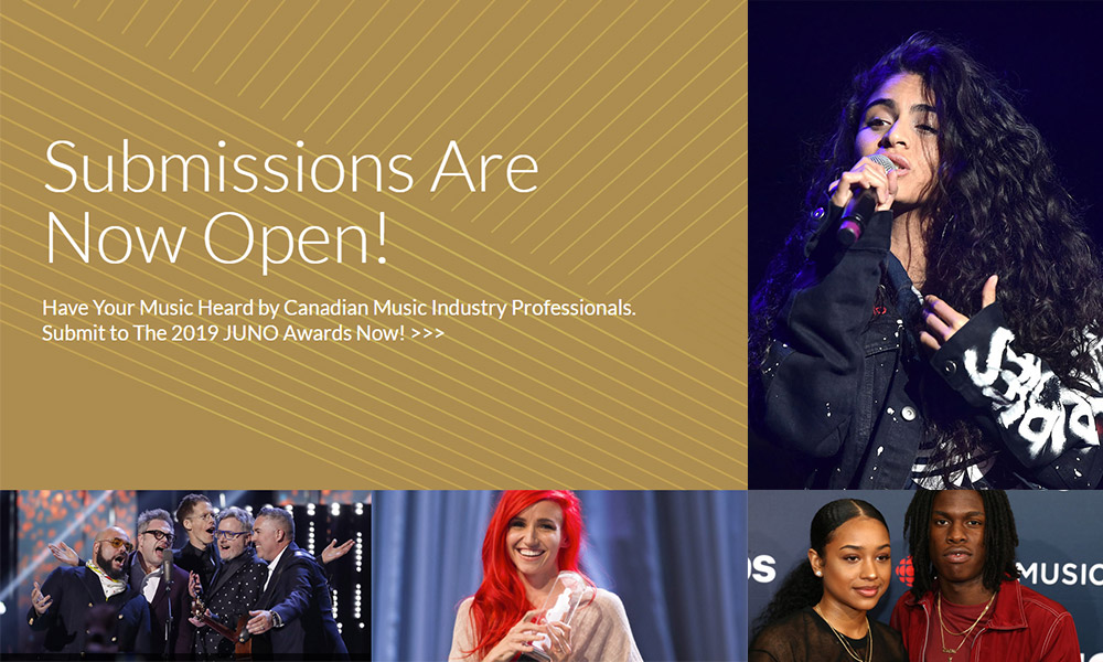 Submissions are now open for the 2019 JUNO Awards