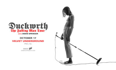 Tonight: Duckwrth is live in Toronto with Deem Spencer
