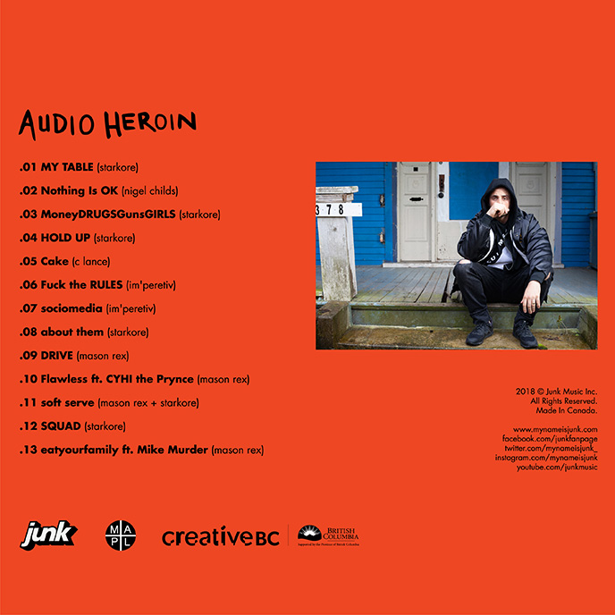Junk releases third studio album Audio Heroin