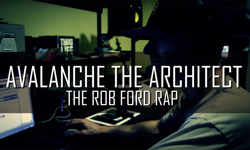 Toronto artist Avalanche the Architect drops The Rob Ford Rap video