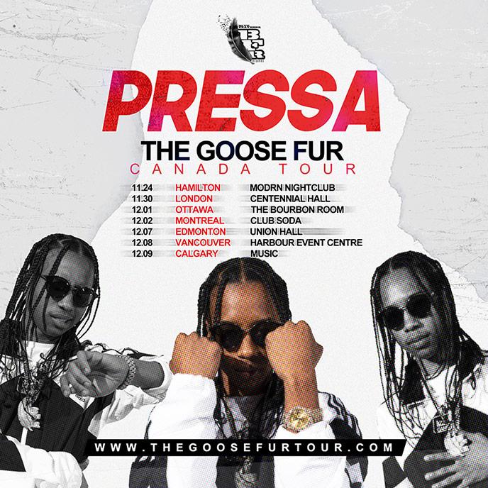 Toronto rapper Pressa announces The Goose Fur Canada Tour