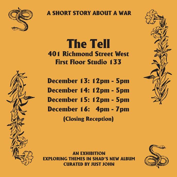 Shad performs in Toronto tonight and tomorrow (Dec. 15); art exhibit running till Dec. 16