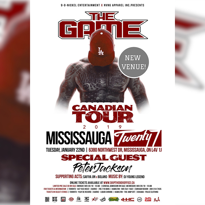The Game Canadian Tour 2019 kicks off in Vancouver on Jan. 12