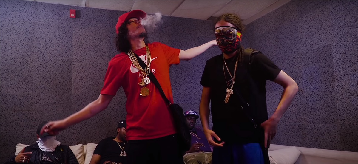 Scenes from the new Casper TNG and Jmak video, Number 3; Casper is seen with members of his crew including his brother K Money.