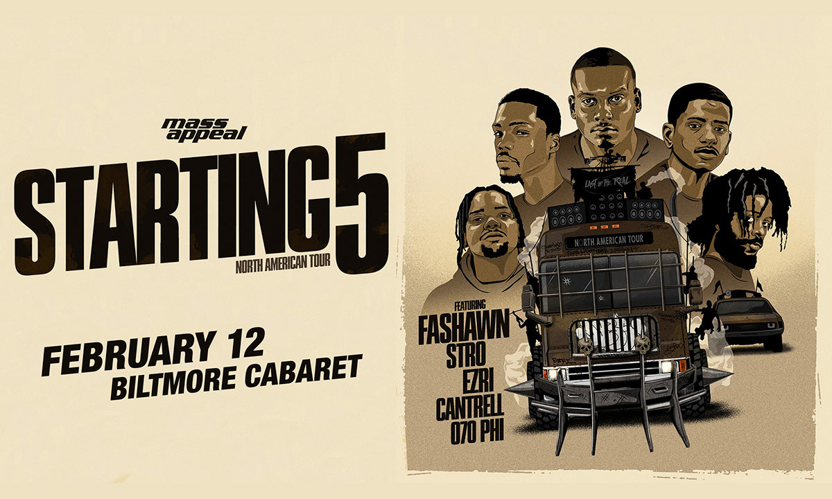 Tour Poster for the Starting 5 North American Tour presented by Mass Appeal