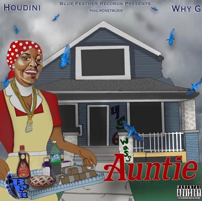 Artwork for the next Why-G single Auntie