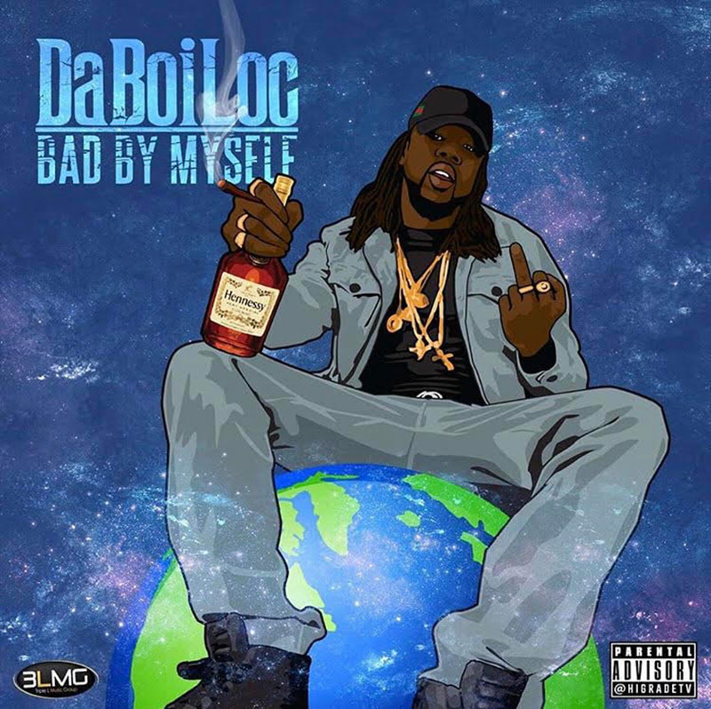 Artwork for Bad By Myself EP by Ottawa rapper DaBoiLoc