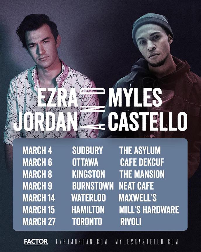 Budding Toronto artists Myles Castello and Ezra Jordan team up for Ontario Tour