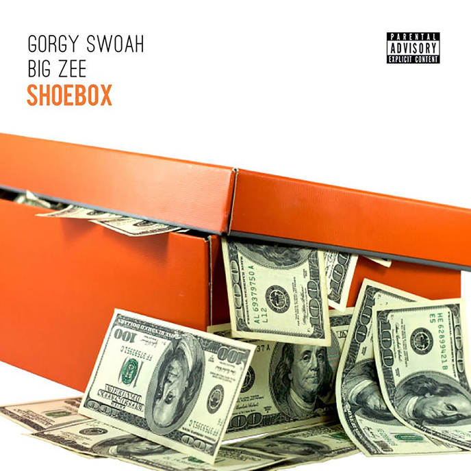 The artwork for the big ZEE single Shoebox which features Gorgy Swoah