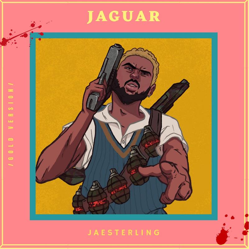 Artwork for the Jaguar EP by Calgary artist Jae Sterling.