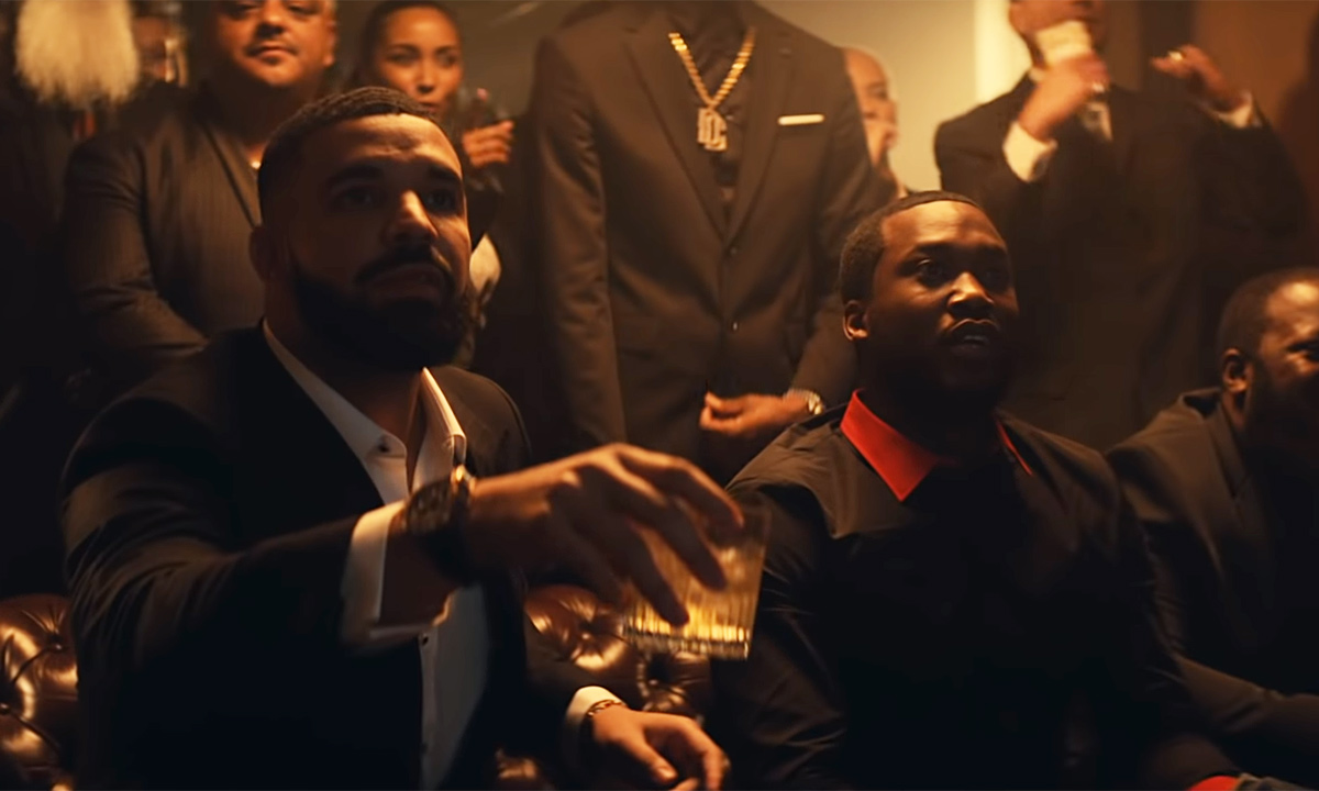 Scene from the Going Bad music video by Meek Mill featuring Drake.