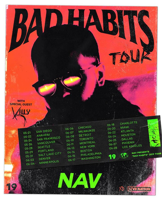 NAV's Bad Habits North American Tour to reach Vancouver, Toronto and Montréal