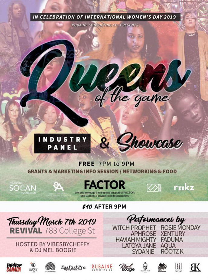 Queens of the Game to celebrate International Womens Day with panel and showcase