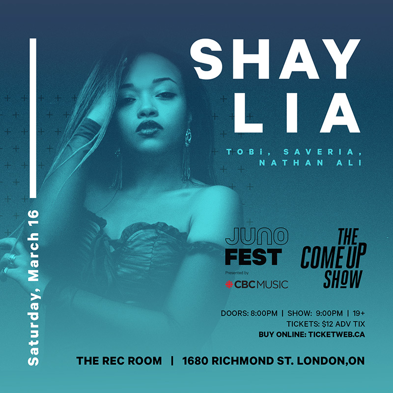 JUNOfest: Tobi, Shay Lia, Nathan Ali and Saveria live at The Rec Room in London
