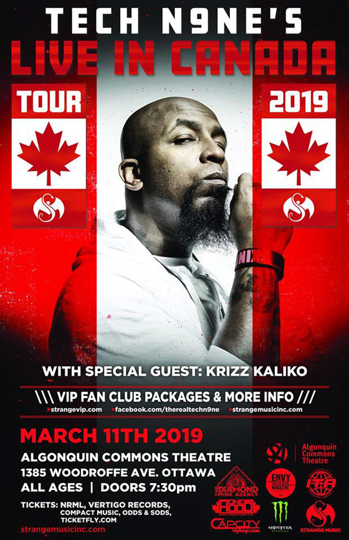 Tonight: Tech N9ne brings the Live In Canada Tour 2019 to Ottawa