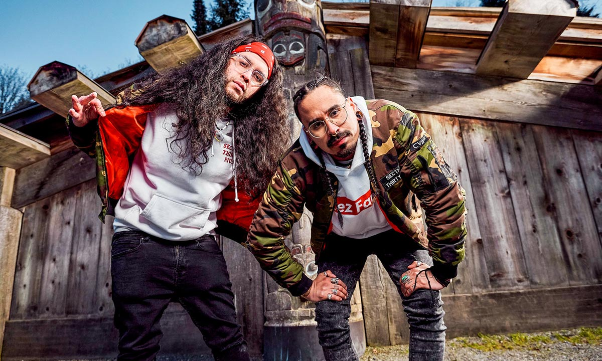 Photo of Canadian rap duo Snotty Nose Rez Kids