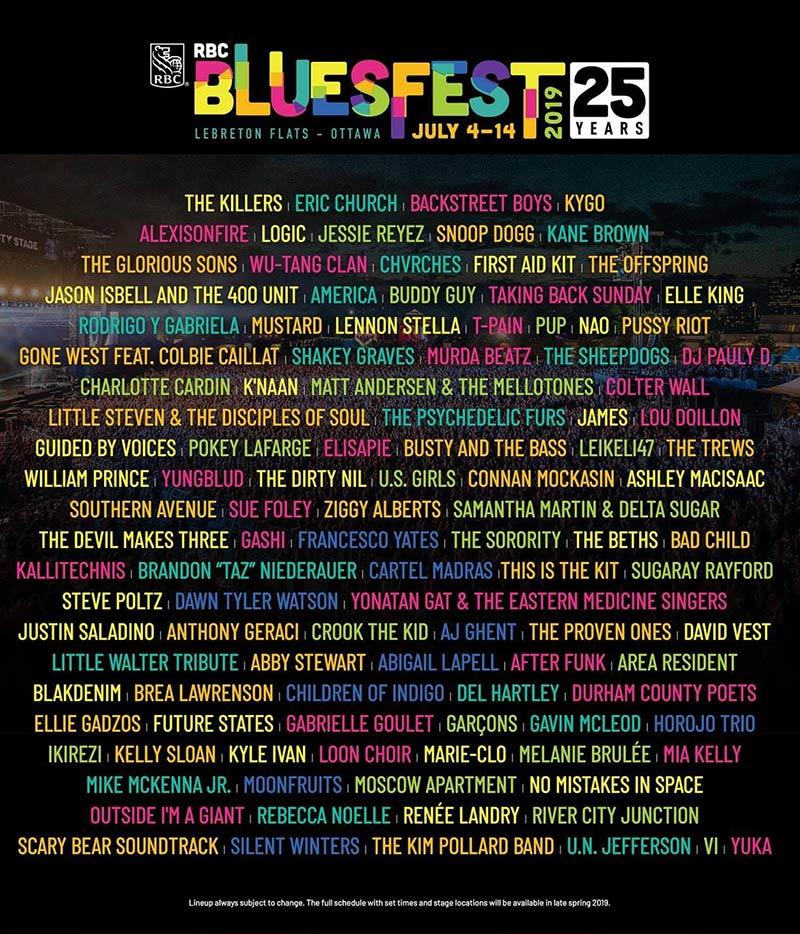 5 days until Ottawa Bluesfest: Murda Beatz, Wu-Tang, Snoop Dogg, The Sorority, Logic, VI & more