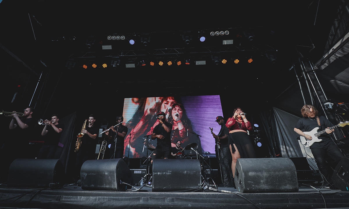 Ottawa band BLAKDENIM performing at Ottawa Bluesfest 2019