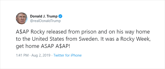 Update: A$AP Rocky makes public statement after being released from Swedish jail