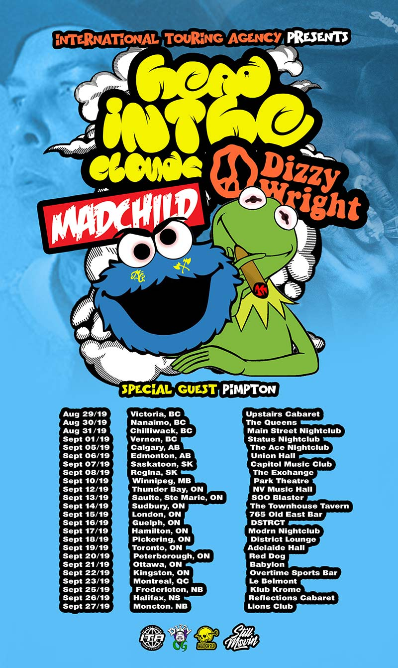 Madchild hits the road with Dizzy Wright on Aug. 29 for 24-city Canadian tour; releases Brainstorm video
