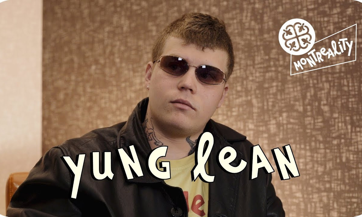 Yung Lean wearing sunglasses in a scene from his new interview with Montreality
