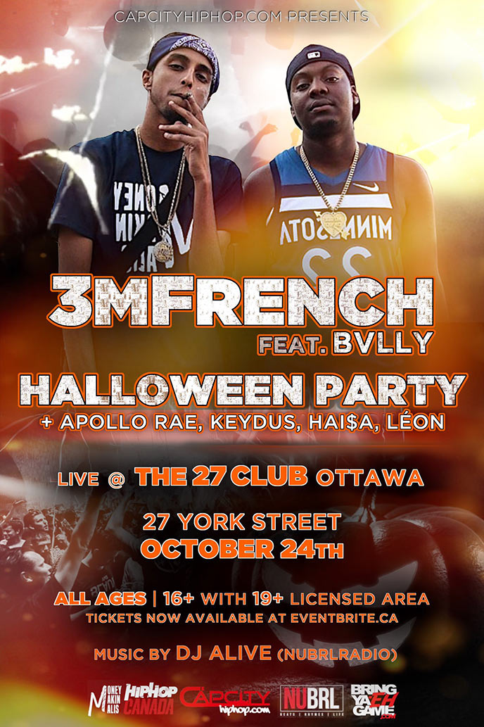 CapCityHipHop to host Halloween party featuring 3MFrench, Bvlly & more on Oct. 24