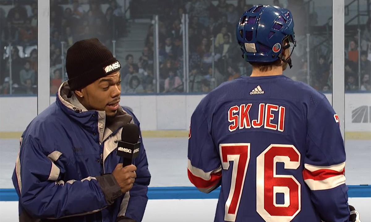 Chance the Rapper reprises role as Lazlo Holmes for NHL skit