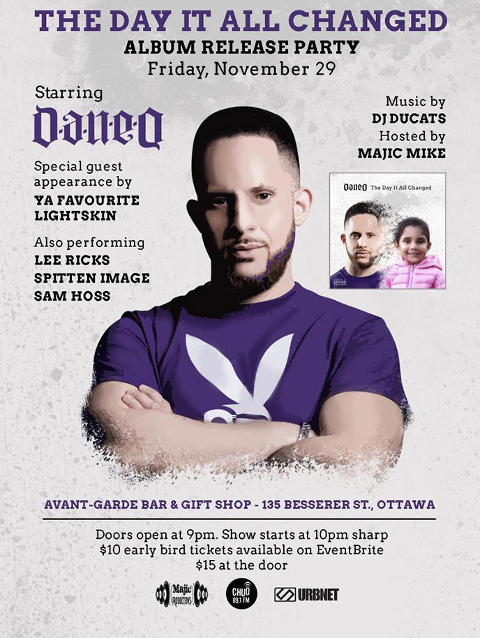 Dan-e-o bring The Day It All Changed to Ottawa on Nov. 29 with special guests