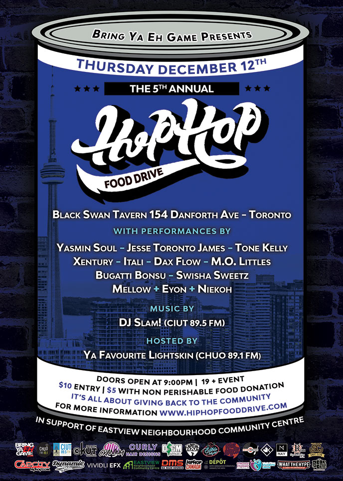 Dec. 12-14: Bring Ya Eh Game to host 5th annual food drive in Toronto, Ottawa and Montreal