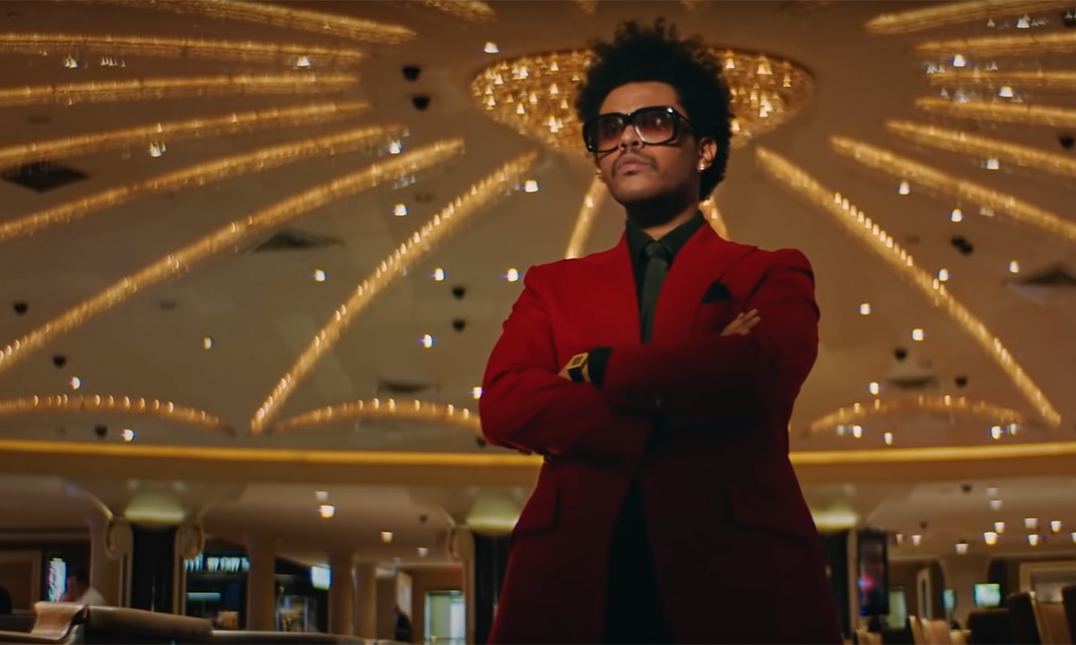 The Weeknd in the video for Heartless