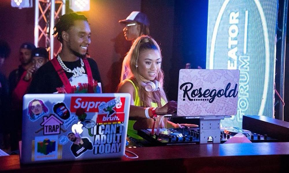 DJ Rosegold on stage