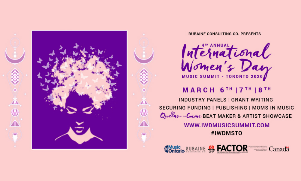 March 8: Rubaine Consulting Co. presents their 4th Annual IWD Music Summit