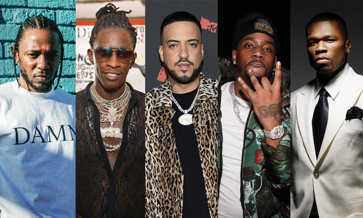 Kendrick Lamar, Young Thug, French Montana, Fivio Foreign and 50 Cent