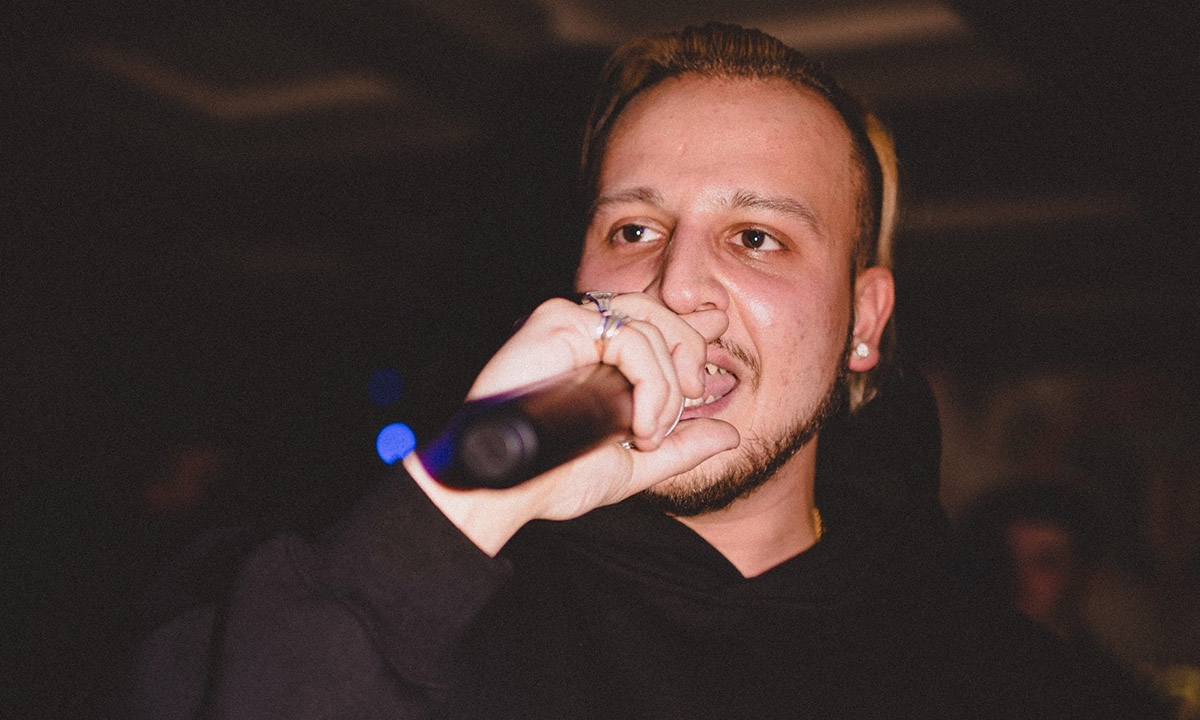 Kresnt, pictured here holding a mic, is promoting a new single titled Everybody Knows